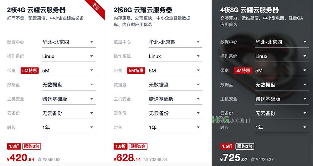 华为云4核8G服务器优惠